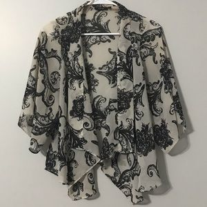Sheer Open Front Blouse